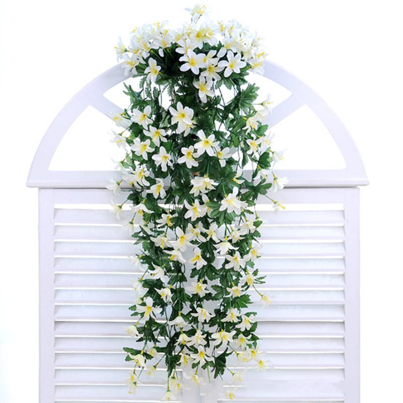 1Pc Artificial Lily Silk Vine Wedding Party Hanging Plants Craft Home Garden Decoration Lily Vine Flowers Home Garden Decor K3