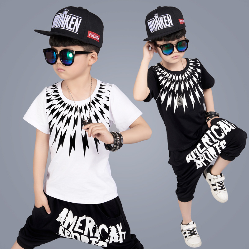 Fashion Boys Kids Clothes 2017 New Fashion Style Children Clothing Good Quality Short Sleeve Baby Boy Summer Clothes A390