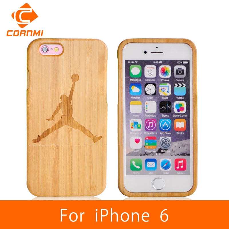 "CORNMI Case For iPhone 6 Wood Cover 100% Real Bamboo Woody Cell Phone Cases For iPhone 6 Accessories 4.7"" Mobile Phone Bag JTH"