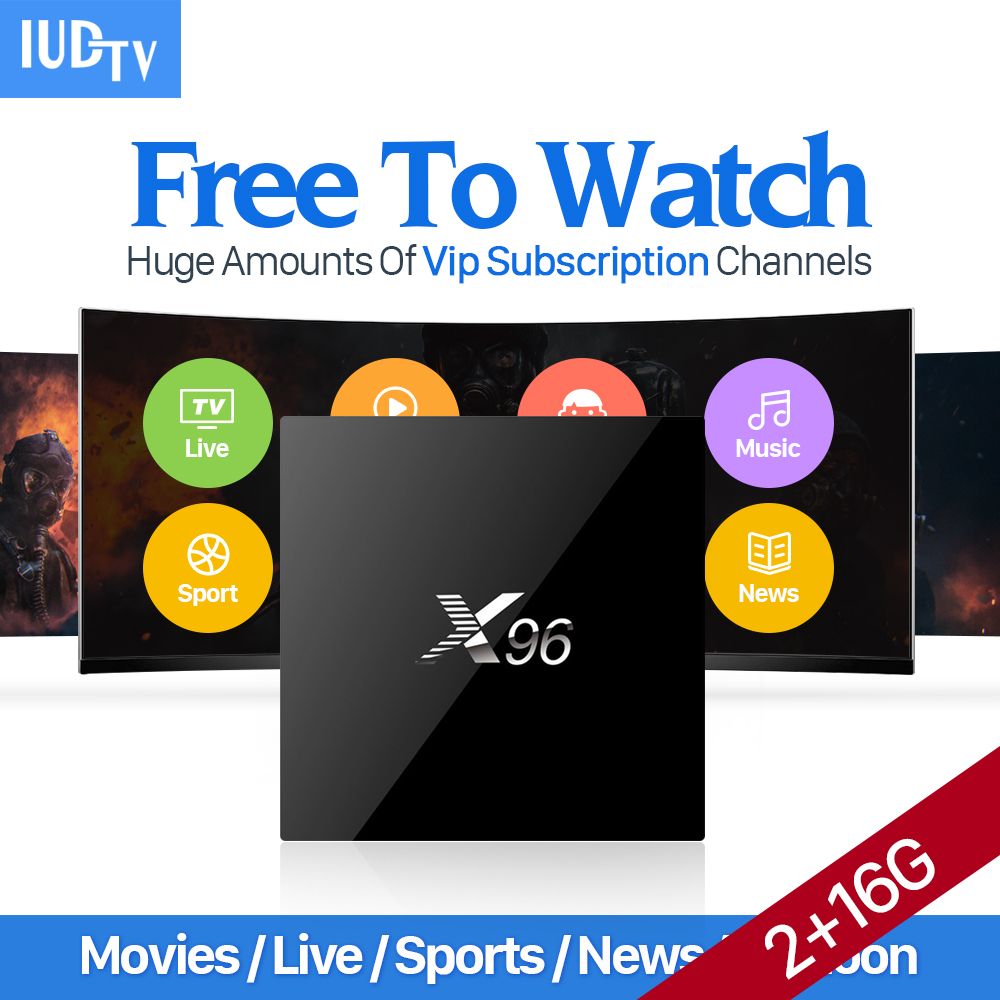 IPTV Europe 2000 Channels Movie Sports X96 Android 6.0 Smart TV Box S905X IUDTV IPTV Subscription French Sweden Arabic IPTV Box