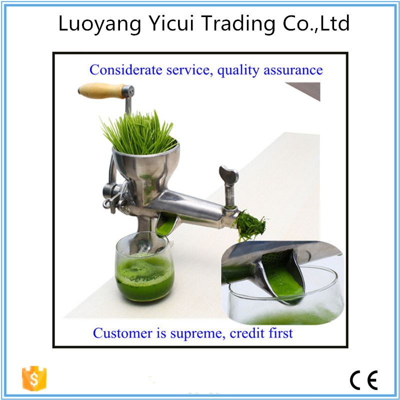 Asia free shipping Portable manual easy to clean wheatgrass juicer