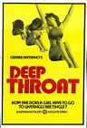 DEEP THROAT Movie Poster XXX Linda Lovelace Sex Erotica
