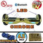 "New UL 2272 6.5"" Self Balancing 2 Wheel Electric Scooter Hoverboard LED Chrome"