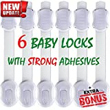 SmartMe Adjustable Baby Safety Locks - Child Proofing Cabinets, Drawers, Appliances, Toilet Seat, Fridge, Oven & Dishwasher - No Tools Required - Strong Adhesive & Latch System - Keep Your Baby Safe! [並行輸入品]
