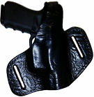 PC 7 ALLIGATOR BLACK CUSTOM OWB Leather Gun Holster U CHOOSE:rh,lh-belt-mag&MORE