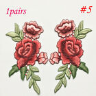 Clothing Accessories Embroidery Patch Sew-on DIY Crafts Rose Flower Applique