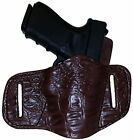 PC 7 ALLIGATOR BROWN CUSTOM OWB Leather Gun Holster U CHOOSE:rh,lh-belt-mag&MORE