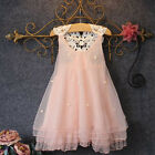 GOOD Flower Girls Princess Dress Kids Baby Party Pageant Lace Tulle Tutu Dresses