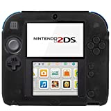 Generic Pure Color Ultra Thin Silicone Case for Nintendo 2DS(Black)