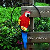 Wonderland 13 Inches Height Red Parrot For Hanging For Home / Garden & Outdoor Decor