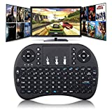 REES52 Mini Wireless Keyboard with Touchpad Mouse 2.4GHz Remote Controller Rechargeable Combos for Google Android Box, Pc, Pad,Smart TV Player(Black)