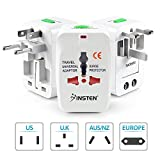 Universal World Wide Travel Charger Adapter Plug, White