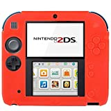 Generic Pure Color Ultra Thin Silicone Case for Nintendo 2DS (Red)