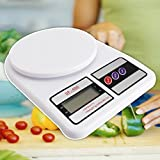 Jannat Electronic Kitchen Digital Weighing Scale 10 Kg Weight Measure Liquids Flour,White