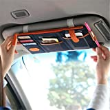 ShopAIS Car Sun Visor Point Pocket Documents Organizer Pouch Hanging Bag CD Card Holder (Assorted Color Will Be Send)