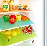 Yellow Weaves™ Refrigerator Drawer Mats / Fridge Mats Pack of 6 pcs 12X17 Inches(Multi Colors)