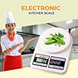 Jannat Premium Quality Digital Kitchen Scale, 10kg Electronic Cooking Food Scale with LCD Display for Home, Christmas, Accurate Gram and Slim Design