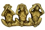 Unique Brass Medium Three Monkey Art India/Asia By Vyomshop