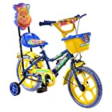 Outdoor® Bikes Blue Yellow 14 Inches Bicycle For Kids 3 To 5 (Assembly Required By Customer)