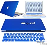 "Moca(Tm) Macbook Pro 13-Inch With Retina Display Case Cover {Royal Blue} With Apple Logo Cut-Out Shell Hard Case Cover For Macbook Pro 13"" 13.3"" 13-Inch With Retina Display Shell Cover Case + Get Silicone Keyboard Cover Free"