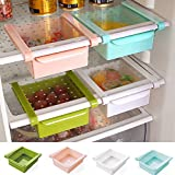 VelKro Space-Saving Refrigerator Sliding Drawer Bins, Extra Space for Fridge, Table, Closet, Shelf (Colour May Vary)