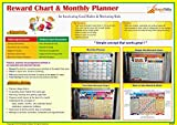 Reward Chart & Monthly Planner. Inculcate Good Habits & Motivate Kids. Improved Marker for better write-wipe