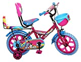 NY Bikes Buzzer 14T Steel Kids Bicycle for 2 to 4 Years Kids (Pink & Sky Blue)