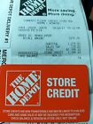 "Home Depot Store Credits that total $632.15 ""i.d Required"""