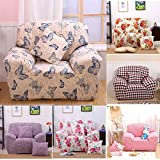 Bazaar Two Seater Textile Spandex Strench Flexible Printed Elastic Sofa Couch Cover Furniture Protector