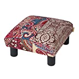 Jennifer Taylor Home Jules Collection Bohemian Nailhead Trim Accent Ottoman Bench, Multicolor/Bombay