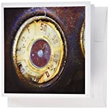 3dRose Old automobile dashboard - car, rust, speed, texture, auto, automotive, transportation - Greeting Cards, 6 x 6 inches, set of 6 (gc_157575_1)