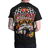 Hot Rod American Classic Mens Black T-Shirt Short Sleeve (Small, Black)