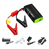 [500A Peak Current]Arteck Car Jump Starter Auto Battery Charger and 13600mAh Portable External Battery Charger for Automotive, Motorcycle, Tractor, Boat, Laptop, Smart Phone with Clamps, 12V Output