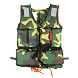 Adult/Child Swimming Life Jacket Buoyancy Aid Vest Safety Survival For Outdoor Water Sport Boating Drifting ( Color : Child Camouflage )