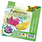 Folia Origami Paper 6-Inch-by-6-Inch Assorted Colors 100 Sheets