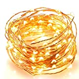 AIWEISI LED String Light 32.8ft 100 LED Waterproof Cooper Wire Fairy Lights for Indoor Outdoor Christmas Party Birthday Wedding Bedroom Home Garden Warm White