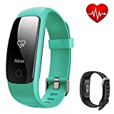 Smart Bracelet, REDGO Heart Rate Monitor Health Tracker Activity Fitness Sports Wristband Pedometer for iPhone 7 7Plus 6 6s 6Plus, Samsung IOS and Android etc Smart Phone, Teal