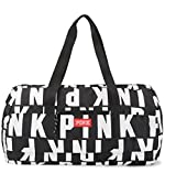 VICTORIA SECRET PINK DUFFLE BAG WHITE & BLACK SIGNATURE BAG TOTE - SOLD OUT TOTE