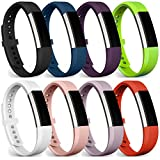 Fitbit Alta Bands / Fitbit Alta HR Bands, FanTEK Classic Soft Silicone Adjustable Replacement Sport Straps Band Bracelet Wristbands Accessory For Fitbit Alta/ Alta HR, Small