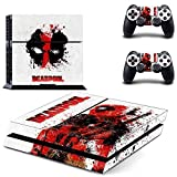 SuperHero Sony Playstation 4 Skin Sticker Vinyl Stickers for PS4 Console x1 Controller Skins x2 by CloudSmart