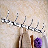 Ieasycan 22 Rail With 6 Heavy Duty Coat & Hat Hooks, Used To Hang Clothing, From Outwear To Accessories Such As Bags, Purses, Hats, Backpacks Handbags, by ieasycan