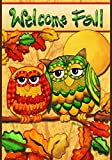 Toland Home Garden Fall Owls Garden Flag 119684