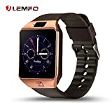 LEMFO IW09 Smart Watch Cell Phone Bluetooth WristWatch with Camera for Android (Gold)
