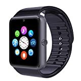 Padgene GSM Smart Watch NFC Bluetooth Wrist Watches Phone Mate,Black SIM TF Camera Pedometer for Android and iPhone