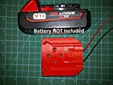 Mount Milwaukee M18 Battery with terminals to power your Robot