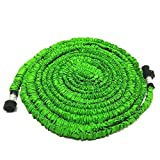 Garden Hose, 50FT Expandable Garden Hose, soled High temperature Latex, Extra Strength Fabric Hose, Expanding Retractable Automatically Garden Hose, Suitable for Home Car Wash Use (Green)