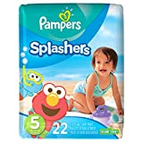 Pampers Splashers, Disposable Swim Pants, Size 5 Diapers, 22 Count (Pack of 6) (One Month Supply)