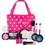 "Cutegirl Cosmetics Pretend Play Makeup Kit. Designer Girls ""Polka Dot"" Essential Bag Set"
