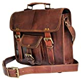 "11"" Mens Genuine Leather Small Messenger bag Satchel Passport man murse bag Ipad case Tab Tablet Bag"