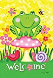 Toland Home Garden Welcome Froggie and Friends Garden Flag, Small